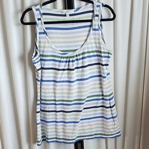 Tommy Hilfiger XL striped blue/white/green top